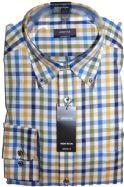 Eterna Shirt - 3016/45 E244 - Yellow/Blue Check